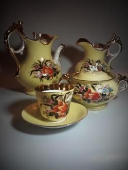 Cofee Set - painted porcelain - 1850